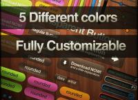 Multi Colored web elements